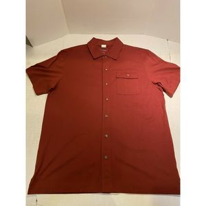 LL Bean Red Large Button S/S Shirt